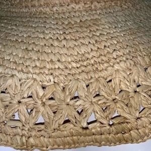 Peter Grimm Accessories - PETER GRIMM Natural Woven Wide Brim Hat w Shells